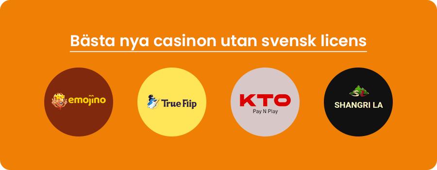 Bästa nya casino utan svensk licens banner